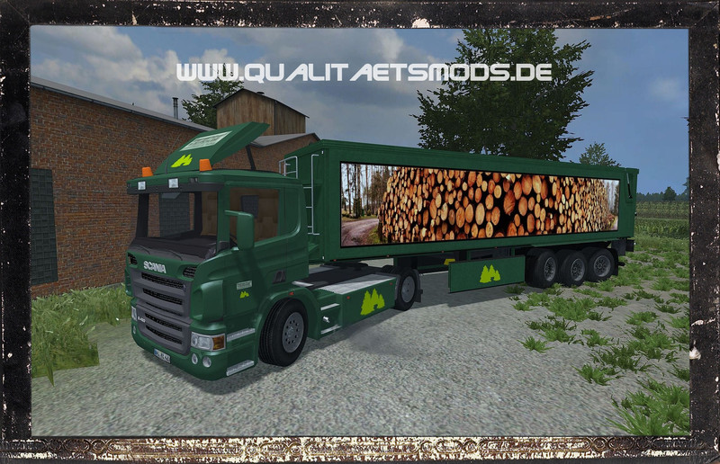 Scania R420 Kröger SRB35 v1 Forest Edition