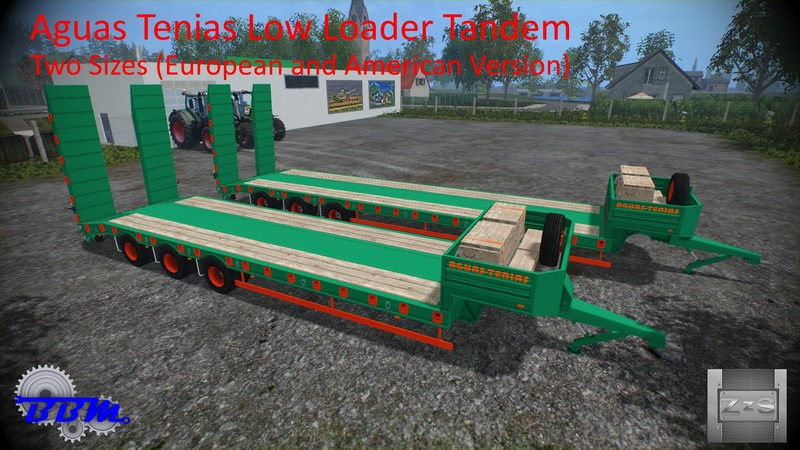 FS15 Aguas Tenias Low Loader Tridem