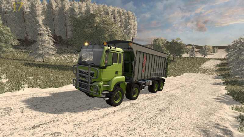 FS17 MAN TGS 8×8 WITH FLIEGL EXTENSION V 2.0