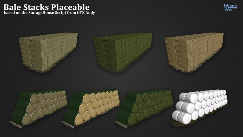 FS17 BALE STACKS PLACEABLE