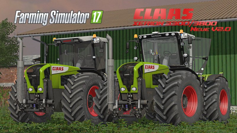 FS17 CLAAS XERION 3300/3800 V2.0 FINAL PACK