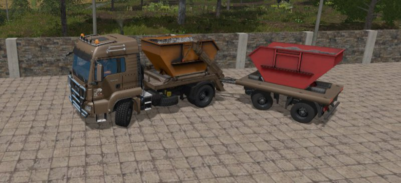 FS17 MAN SKIP TRUCK WITH CONTAINER