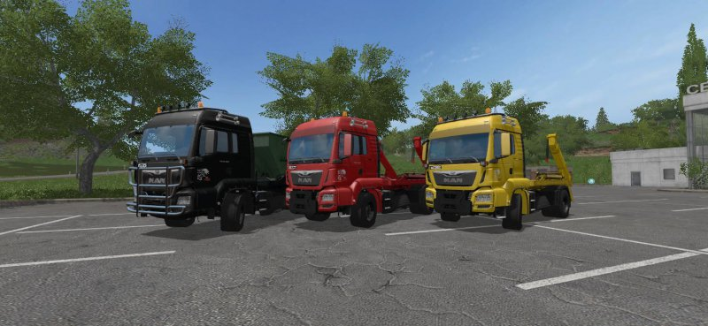 FS17 MAN SKIP WITH CONTAINER BETA