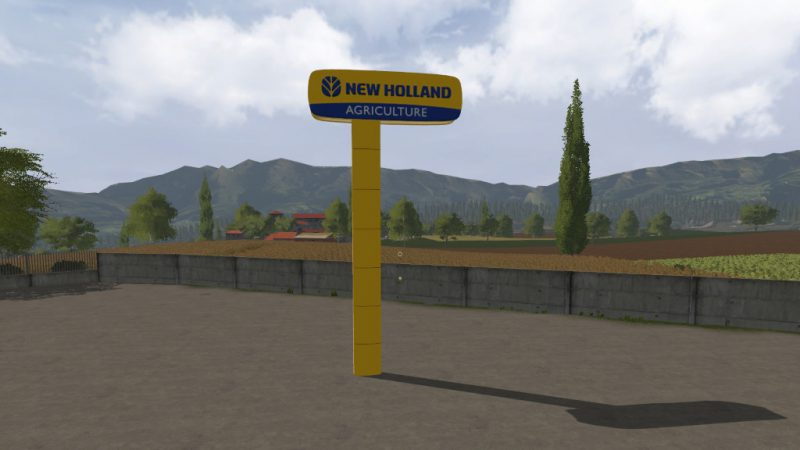 FS17 New Holland Dealer Signboard