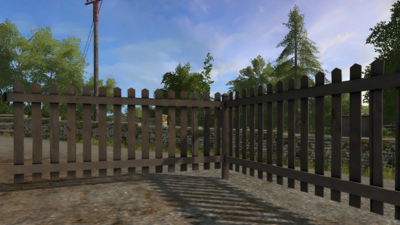 FS17 Wood Fence Panel