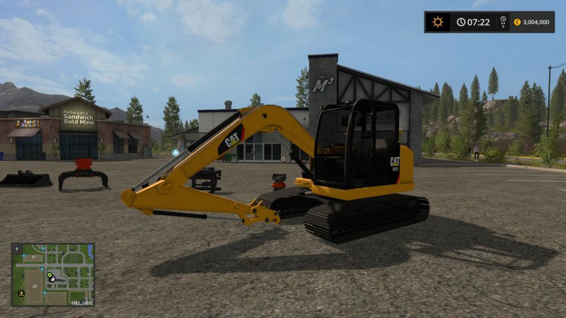 FS17 Cat 307 Pack