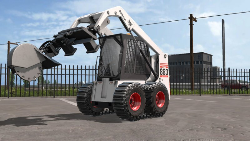 FS17 Bobcat 863 Turbo With Bobcat Shovel v1.1