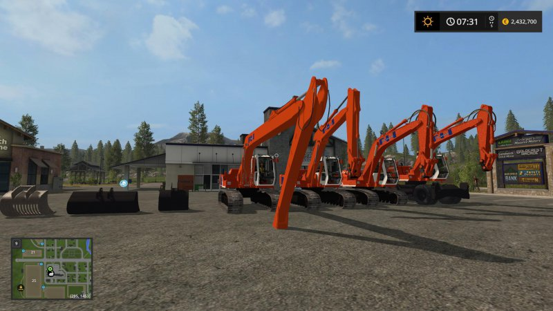 FS17 Hitachi FH200 Pack