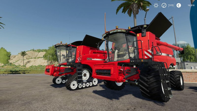 Case IH AxialFlow 9240 Series + hedery by Stevie
